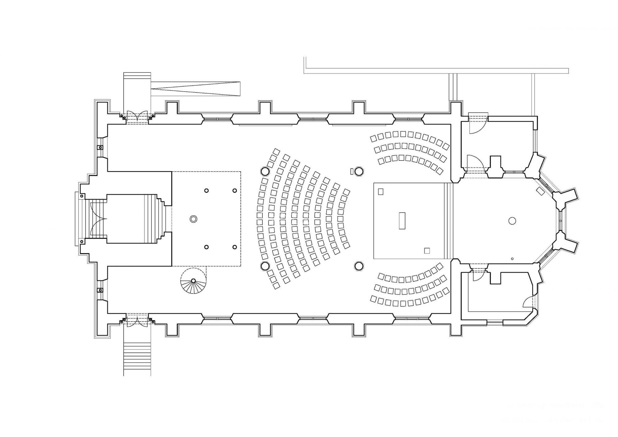 Aschaffenburg, Maria Geburt. Neugestaltung der neugotischen Kirche 1999. Phase 2/2006-2016. Künstlerische und raumliturgische Gestaltung: Leo Zogmayer, Architektur: Ritter + Bauer