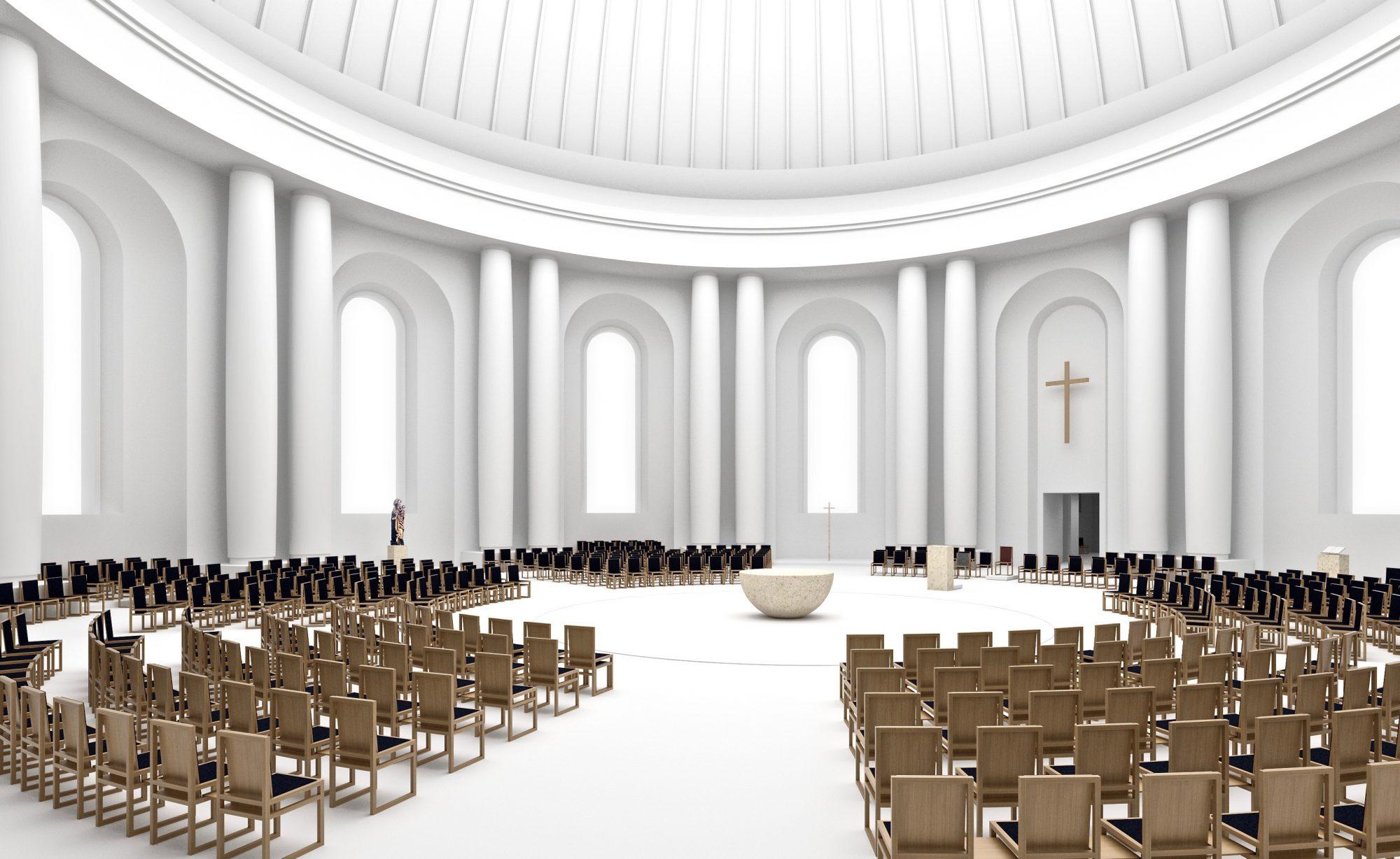 Berlin, Wettbewerbsprojekt Hedwigskathedrale. Sichau + Walter, Leo Zogmayer, 2013