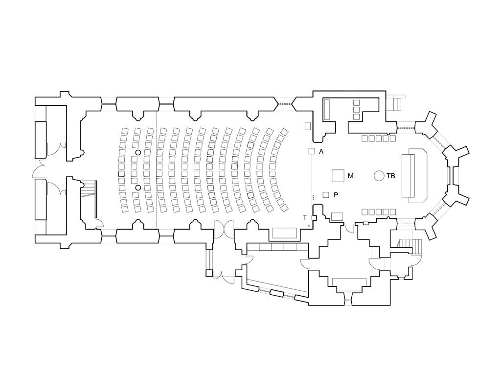 Ternberg, St. Peter und Paul. Neugestaltung Eingang und Innenraum 2009. Raumliturgische Konzeption und künstlerische Gestaltung: Leo Zogmayer, Architekt: Thomas N Pauli