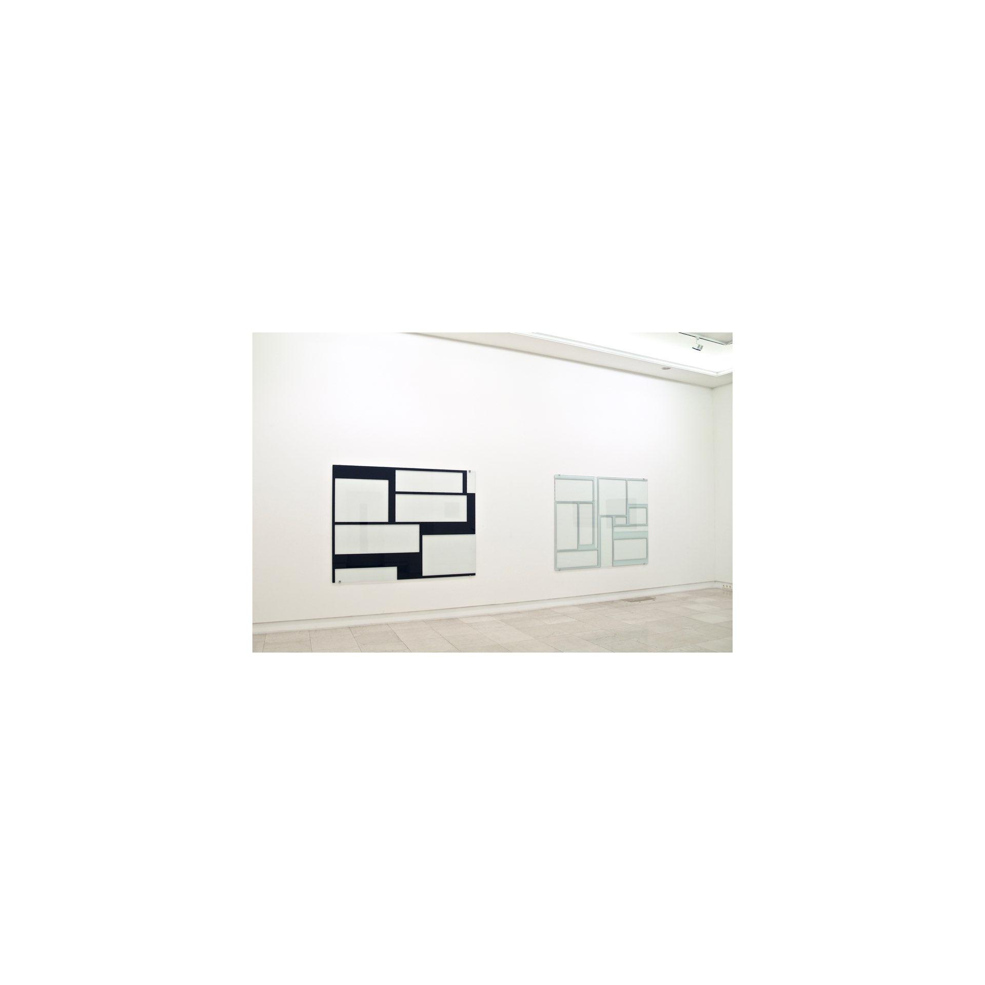 Blau, Weiß<br>2005, Hinterglasmalerei / reverse glass painting, 150x200cm| 2005, Hinterglasmalerei / reverse glass painting, 150x200cm