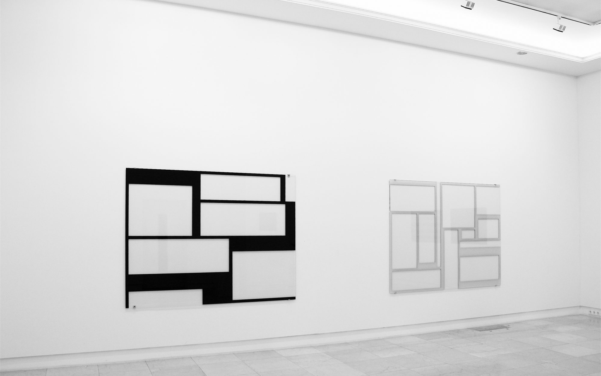2005, Hinterglasmalerei / reverse glass painting, 150x200cm <br> Weiß / White, 2005, Hinterglasmalerei / reverse glass painting, 150x200cm