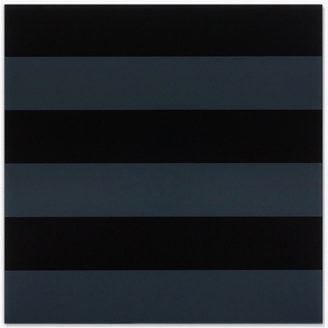 Grau-schwarz / Grey-black, 2003, Hinterglasmalerei / reverse glass painting, 75x75cm
