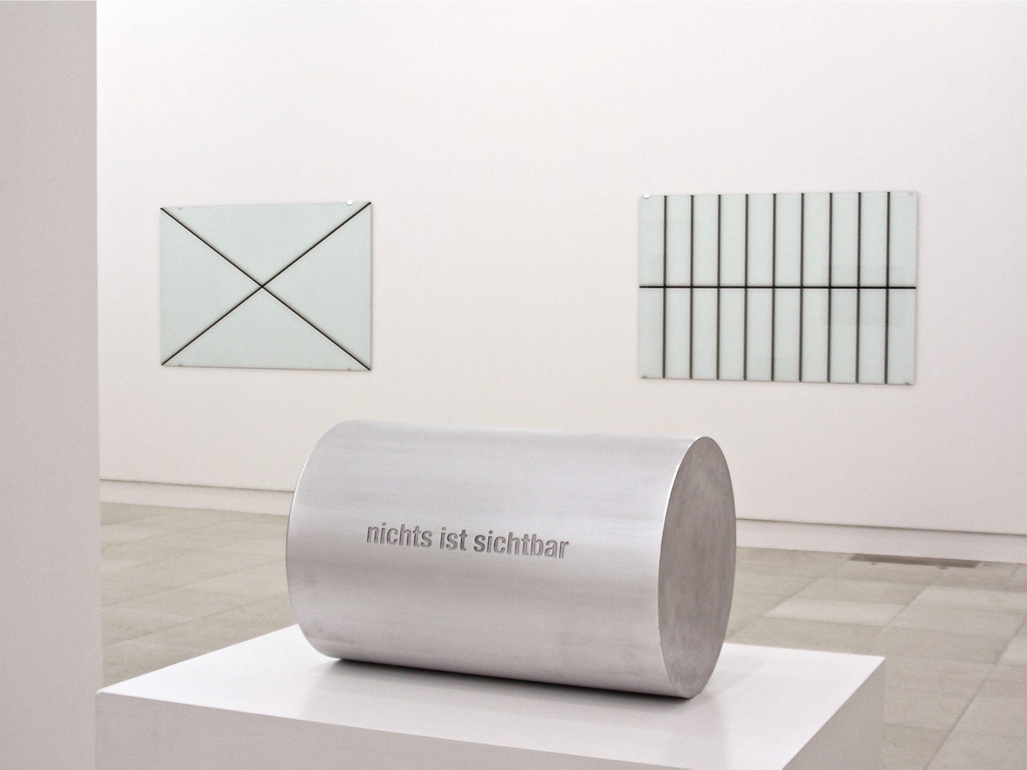 nichts ist sichtbar / nichts ist unsichtbar, 2007, Aluminium 20x20x29cm