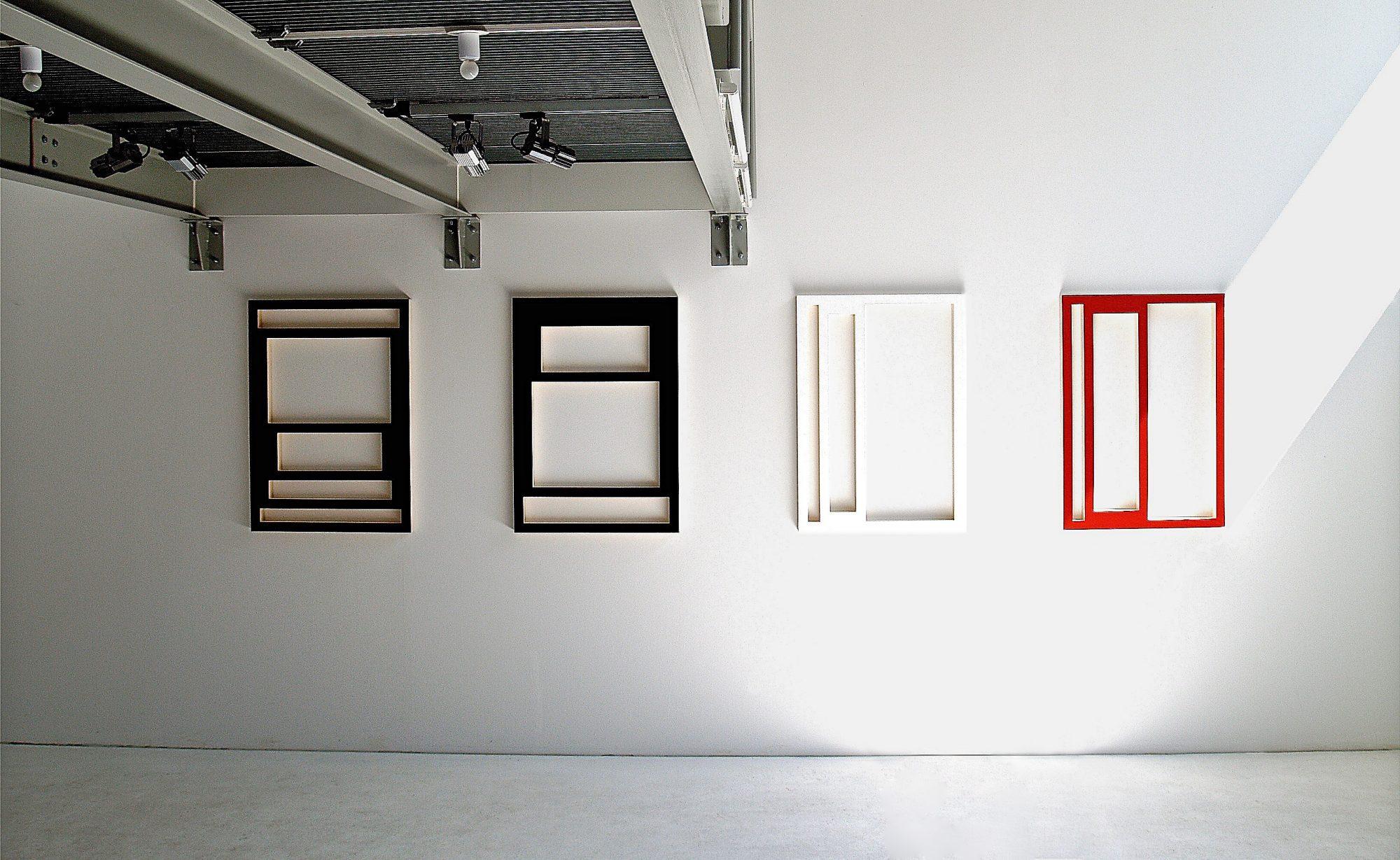 Rahmen / Frames, 2003, Sperrholz, Acryl / plywood, acrylics;je / each 98x69cm