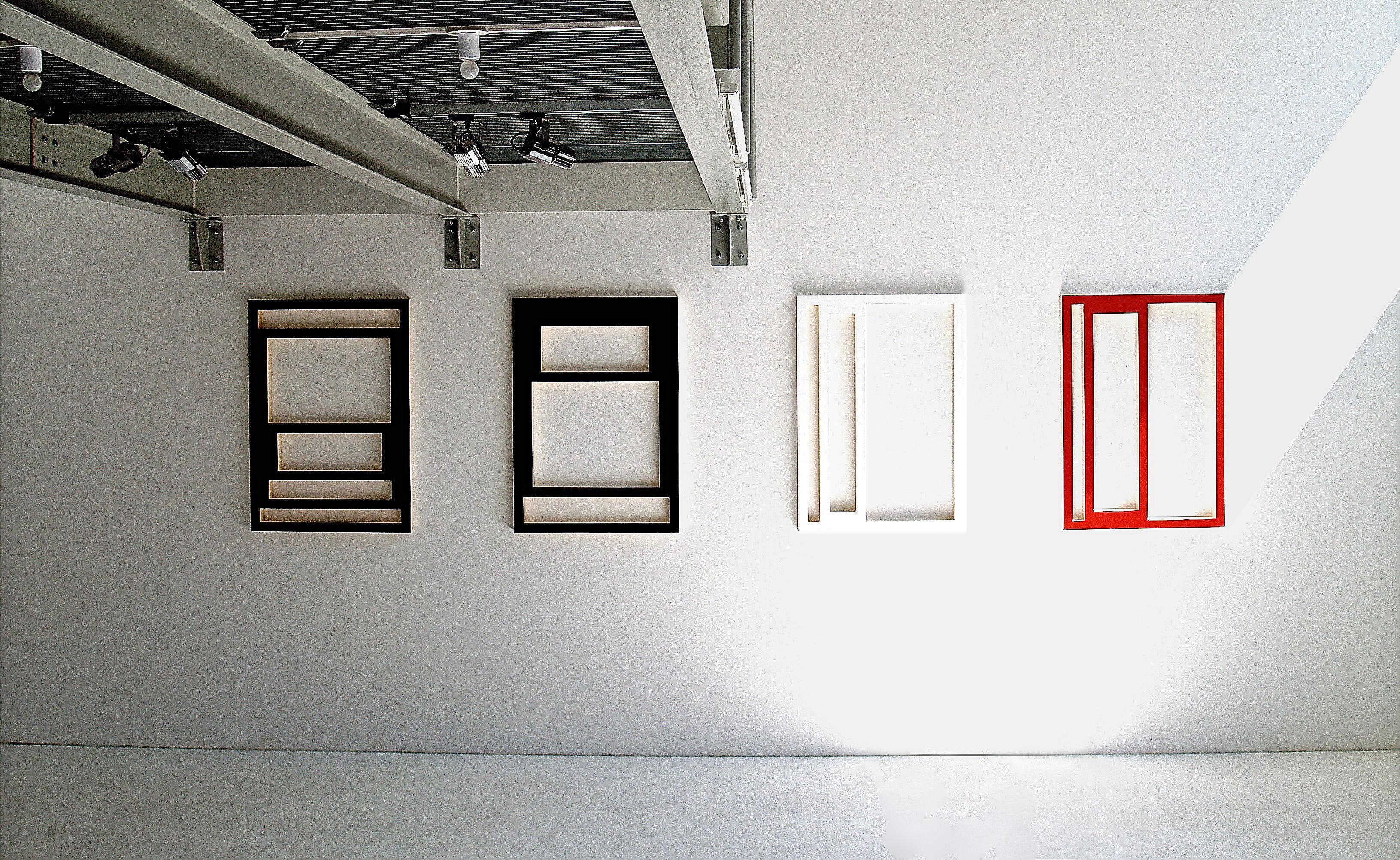 Rahmen / Frames<br>2003, Sperrholz, Acryl / plywood, acrylics;je / each 98x69cm