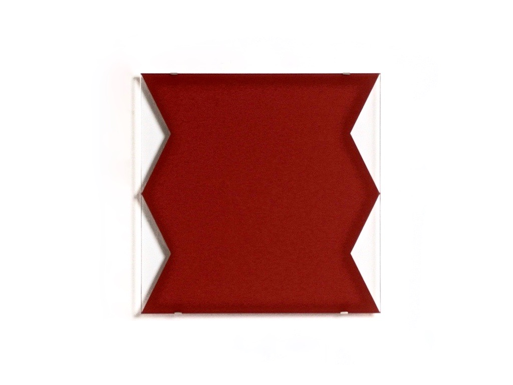 Red (Cut), 2002, Hinterglasmalerei / reverse glass painting, 40x40cm